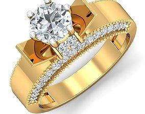 jewel Women cocktail ring 3dm stl render detail