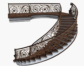 3D model Spiral Staircase3