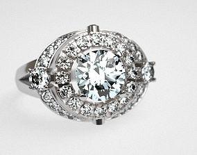 Carat engagement ring 3D printable model