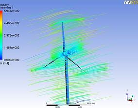 3D model wind turbine simulation