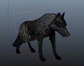 Lowpoly Animated Wolf 3D asset