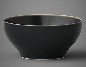 Dark Ceramic Matte Bowl 3D
