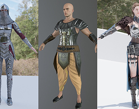 army 3D model Warriors