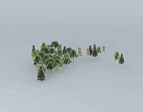 3D San staircase Bernardino Trees 02