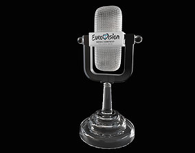 The Eurovision Glass Microphone Trophy 3D model