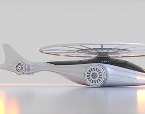 Futuristic Drone A 1 3D model