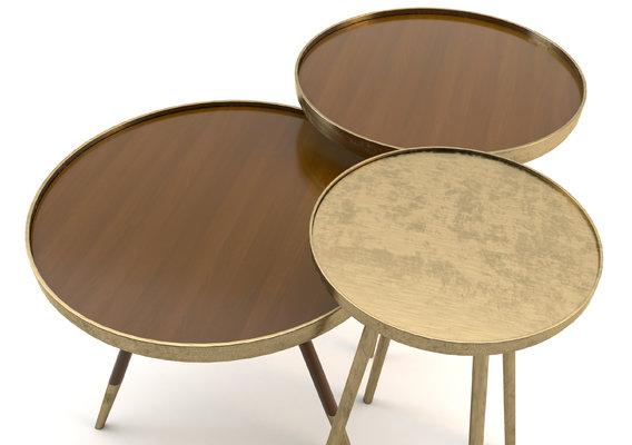 brass tables set