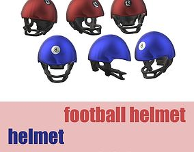 Motorcycle Helmet- Football Helmet 3D asset