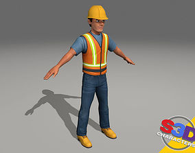 3D model Construction worker 2