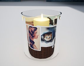 3D model Candle in glass Norvedem