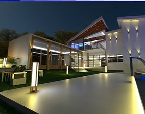 3D Beautiful Modern Stylish Luxury Home House Building