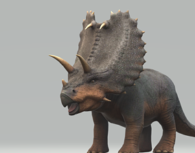 Pentaceratops with Animation 3D model