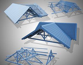 3D model wood frame construction