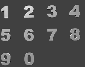 3D model Numbers