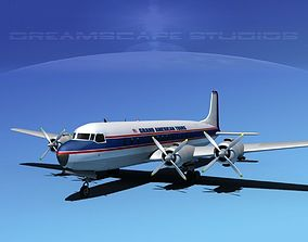 3D model Douglas DC-7C Grand American Tours