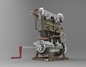 3D model Engine Fiat S76 Beast of Turin