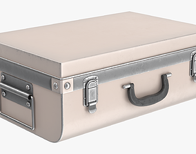 Suitcase metal trunk with handle lock 3D model PBR