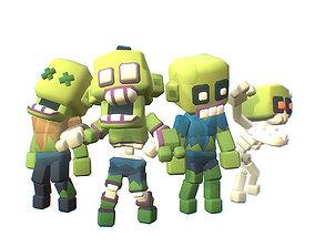 3D asset Zombie - Smashy Craft Series
