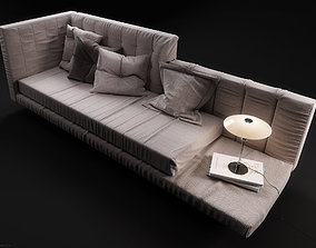Alvar sofa by Bonaldo HQ 3D Model in a Studio Light setup