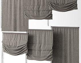 Curtains 20 blinds 3D model