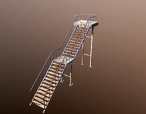 VR / AR ready Rusty Iron Stairs PBR Model