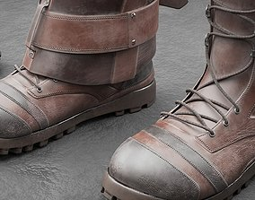 3D asset low-poly Boots with Covers-Spats