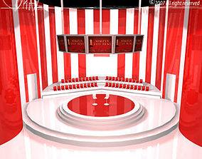3D tv set circo a righe