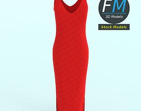 Dress 3D model PBR