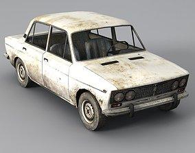 Low Poly VAZ 2103 Car 3D model