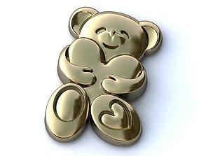 Bear with Heart 3D print model