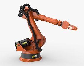 3D model KUKA 210 2 Cinema 4D Rigged industrial robotic