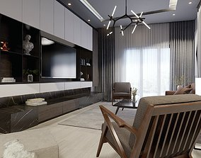 Lumion 10 Interior Modern Living Room with Dining Scene 3D
