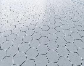 Hexagon tile 3 types 3D asset