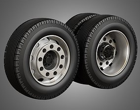 Heavy Duty Trucks Tires and Rims 3D model