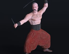 3D Ukrainian kozak