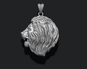 lion pendant gold 3D printable model