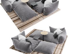 3D model Apsara sofa by Giorgetti