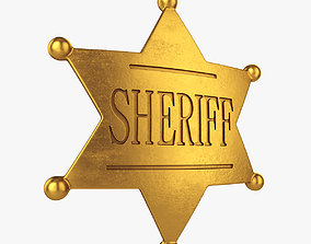 wild Sheriff badge 3D
