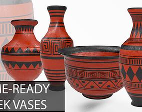 3D model Game-Ready Greek Vases