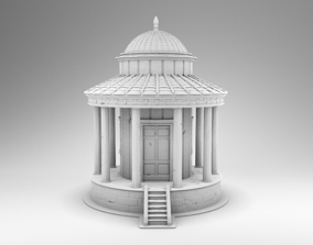 Small Greek temple 3D printable model