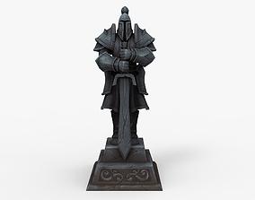 WoW World of Warcraft alliance Statue sculpture 3D asset