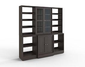 3D asset HAVSTA Storage combination w glass doors dark 1