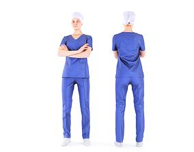 3D asset Surgical nurse 06