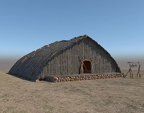 3D model Prehistoric Wooden House
