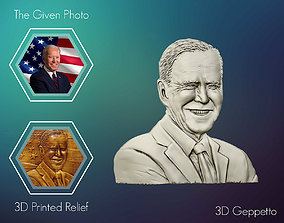 3D Relief sculpture of Joe Biden 3D print model