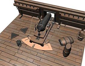 3D model Old Cannon Deck