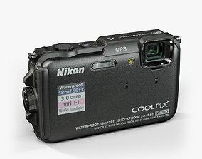 3D asset Nikon Coolpix AW110 rugged and proof digital