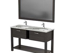 3D Moen Voss Chrome One-Handle High Arc Bathroom Faucet