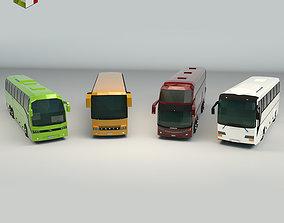 Low Poly Bus Pack 02 transportation 3D model