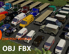 3D asset TOP COMMERCIAL VEHICLES